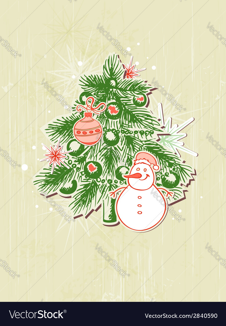 Christmas background with green paper fir vector | Price: 1 Credit (USD $1)