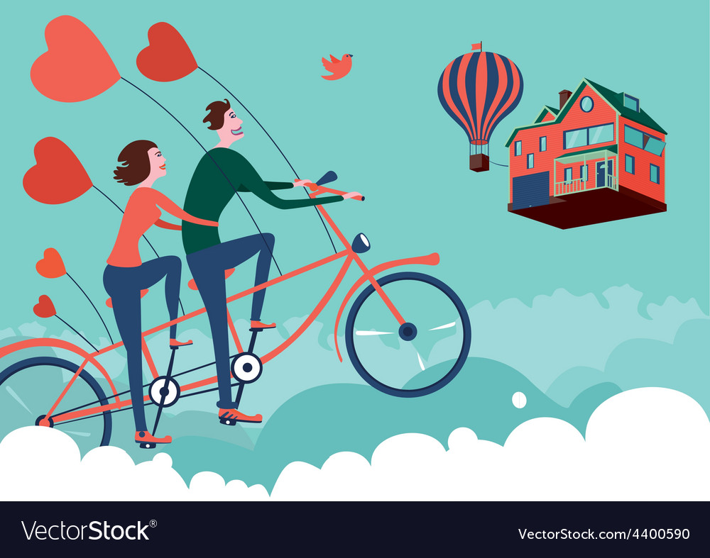 Flying to home vector | Price: 1 Credit (USD $1)