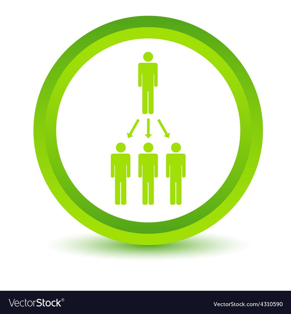 Green work scheme icon vector | Price: 1 Credit (USD $1)
