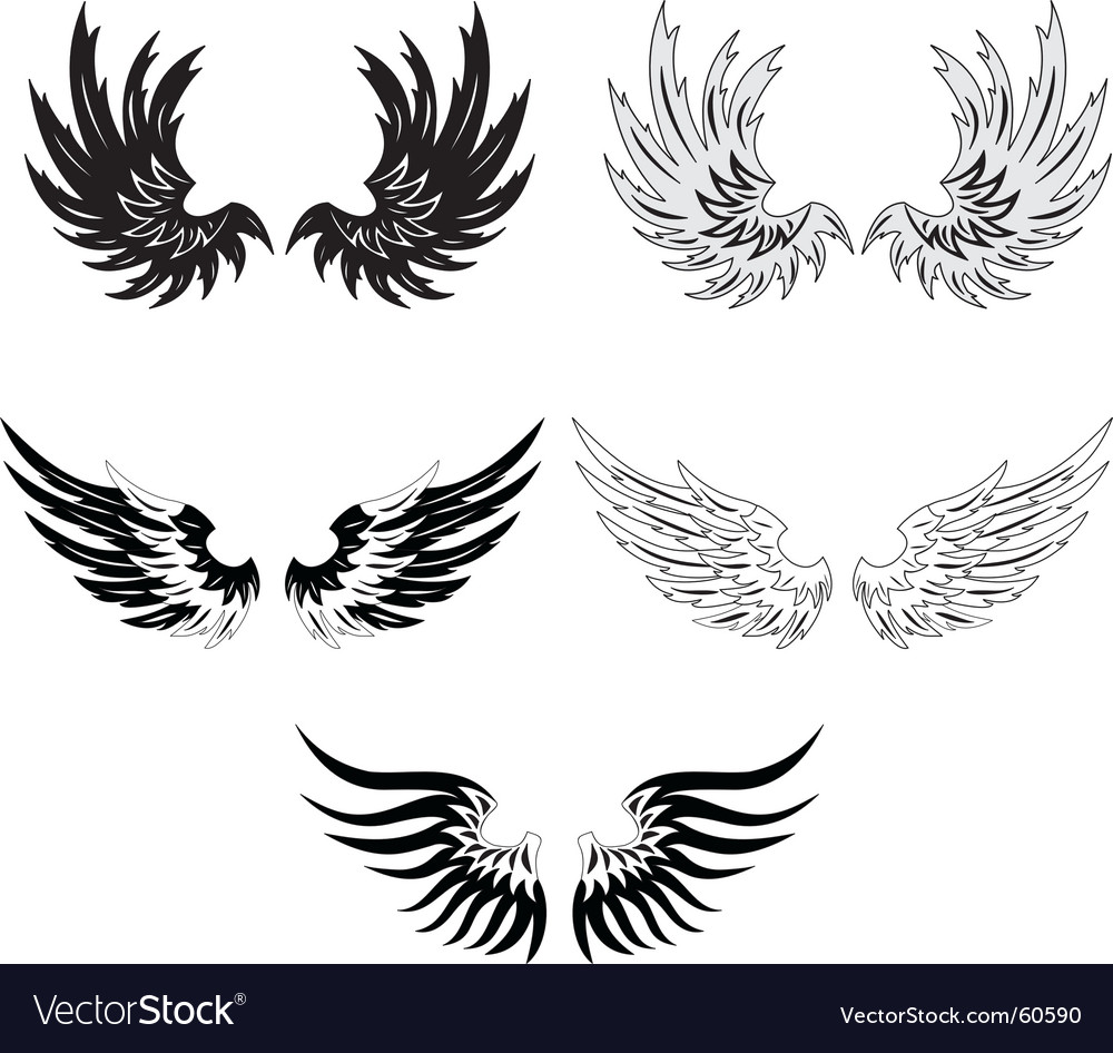 Grunge wings vector | Price: 1 Credit (USD $1)