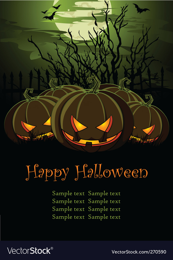 Halloween pumpkins vector | Price: 3 Credit (USD $3)