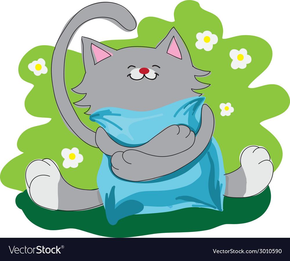 Happy amusing cat vector | Price: 1 Credit (USD $1)