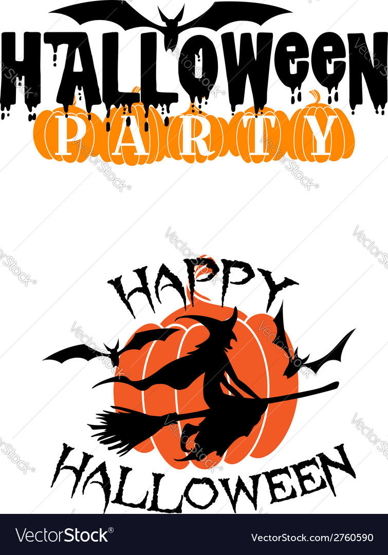 Happy halloween party advertisement vector | Price: 1 Credit (USD $1)