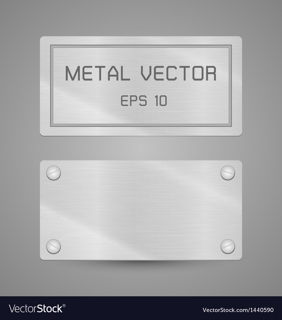 Metal texture label for background vector | Price: 1 Credit (USD $1)