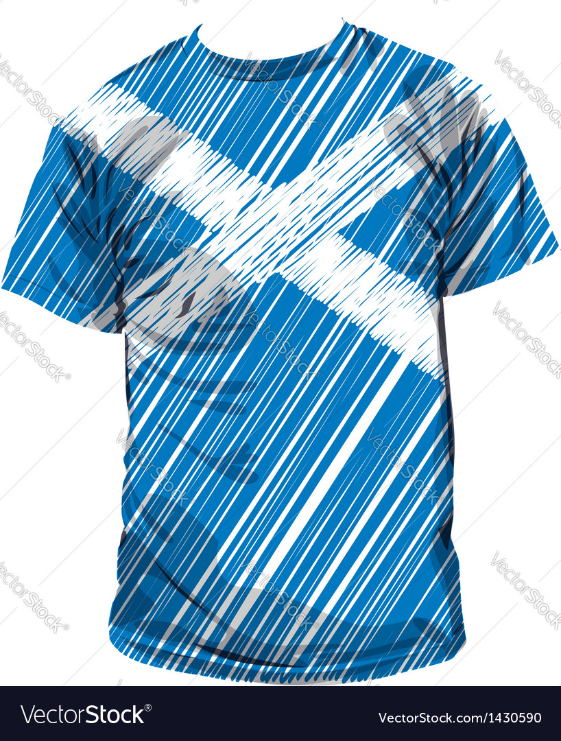 Scottish tee vector | Price: 1 Credit (USD $1)