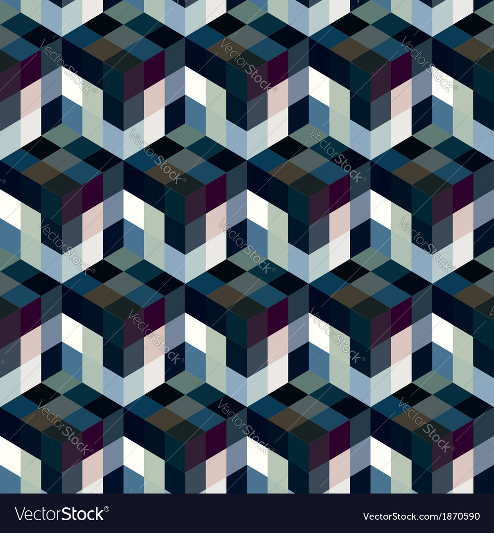 Seamless mosaic pattern vector | Price: 1 Credit (USD $1)