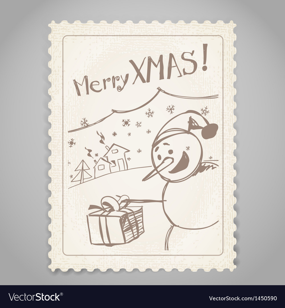 Vintage post stamp vector | Price: 1 Credit (USD $1)