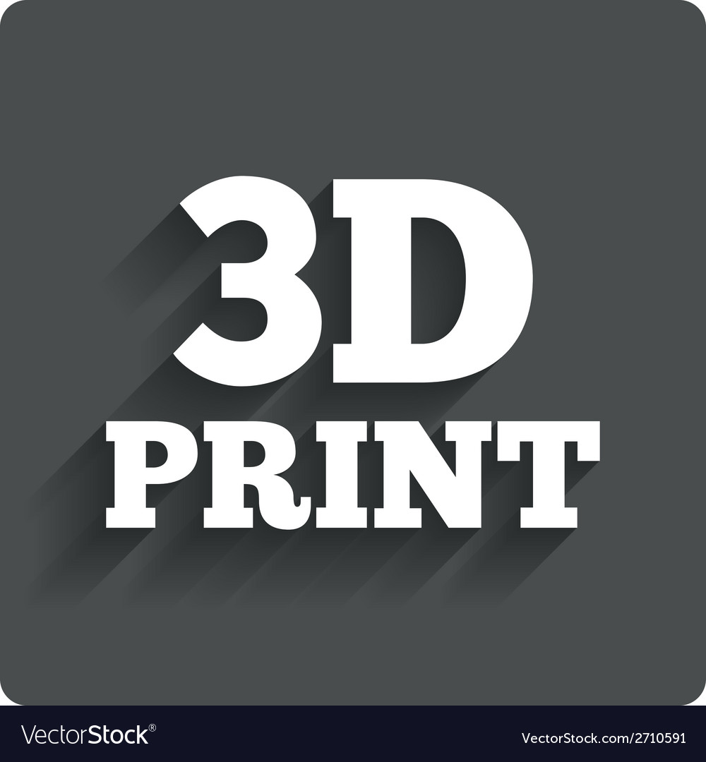 3d print sign icon 3d printing symbol vector | Price: 1 Credit (USD $1)