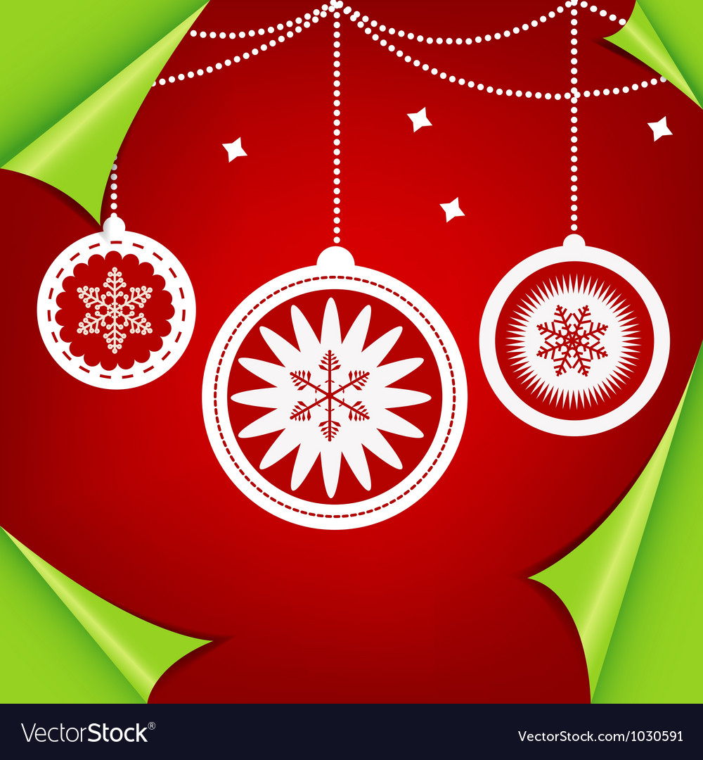 Abstract colorful red christmas background vector | Price: 1 Credit (USD $1)