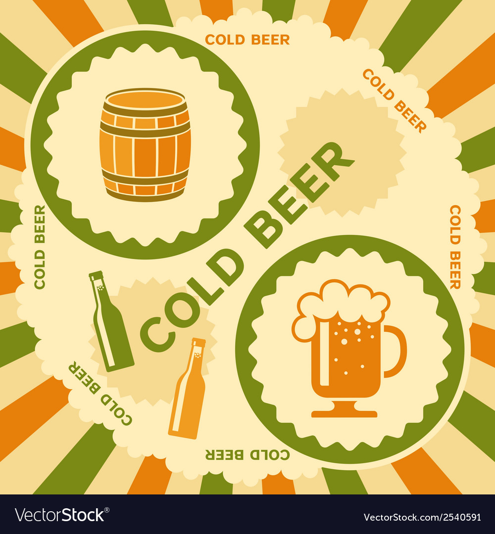 Beer poster design vector | Price: 1 Credit (USD $1)