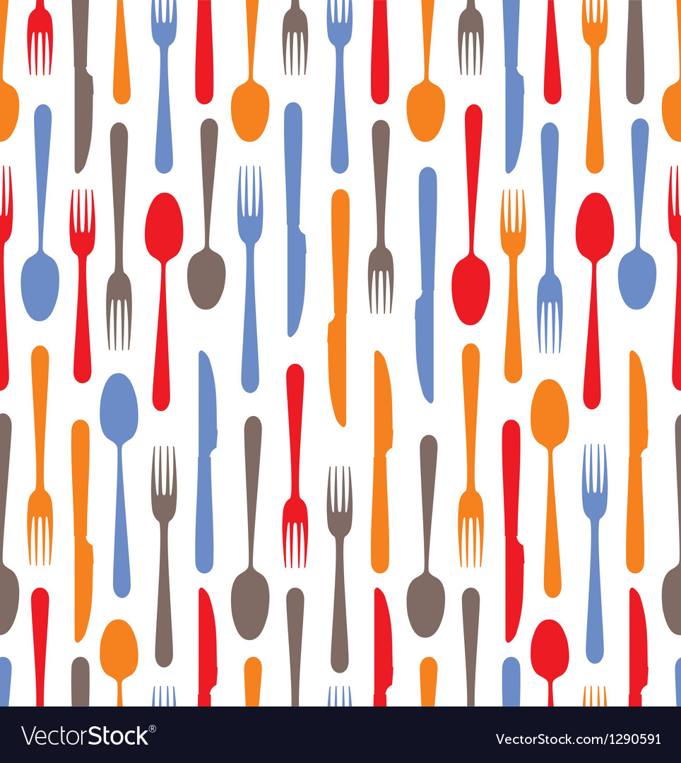 Cutlery icons background vector | Price: 1 Credit (USD $1)