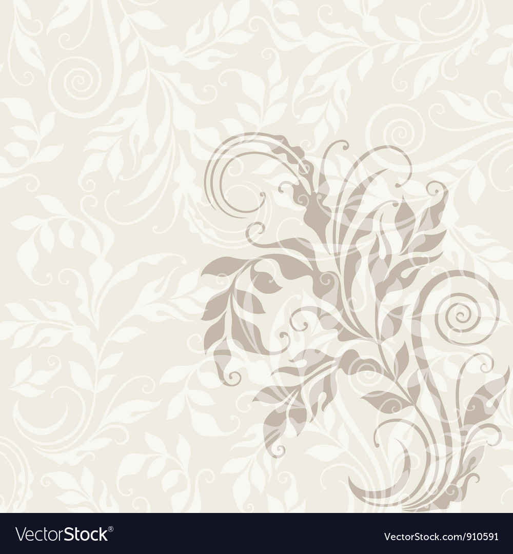 Eps10 decorative floral background vector | Price: 1 Credit (USD $1)