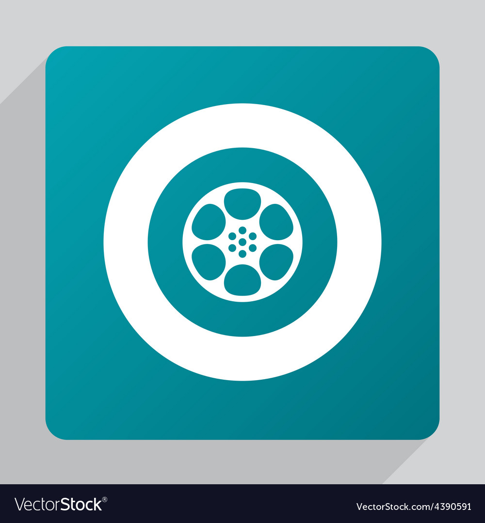 Flat video film icon vector | Price: 1 Credit (USD $1)