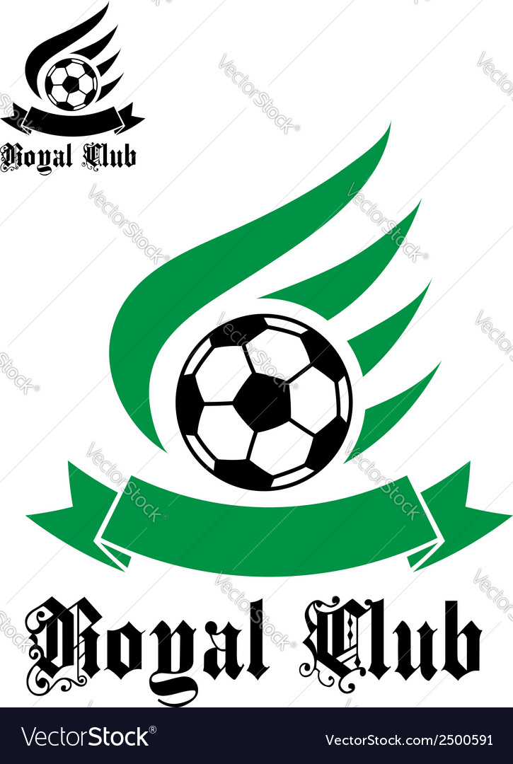 Football or soccer symbol with green and black vector | Price: 1 Credit (USD $1)