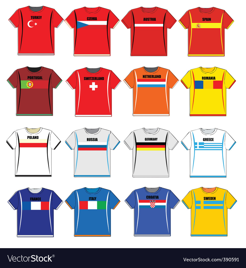 Football shirts vector | Price: 1 Credit (USD $1)
