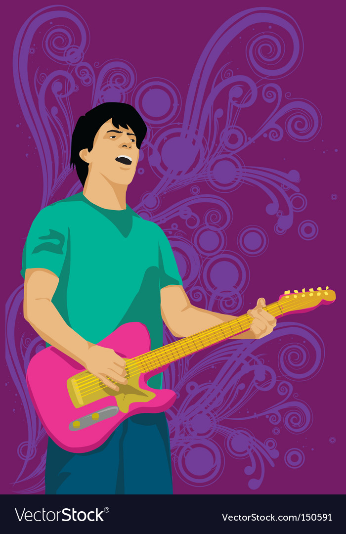 Guitar man vector | Price: 1 Credit (USD $1)
