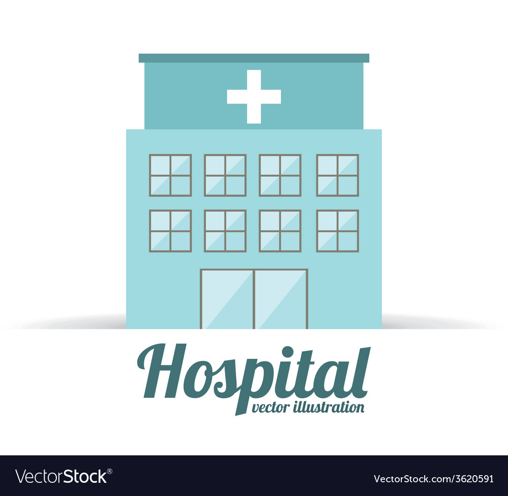 Hospital building design vector | Price: 1 Credit (USD $1)