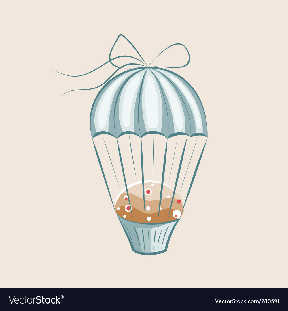 Parachute muffin vector | Price: 1 Credit (USD $1)