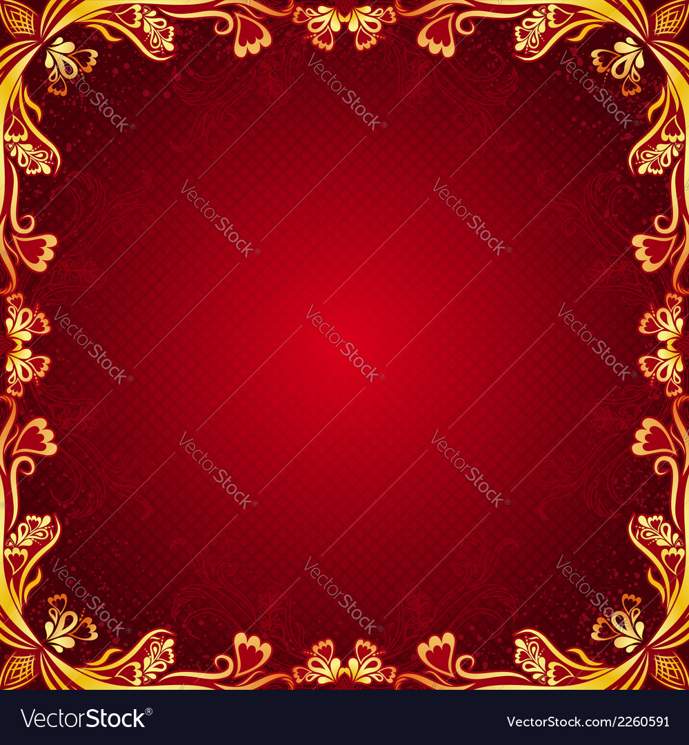 Red antique background vector | Price: 1 Credit (USD $1)