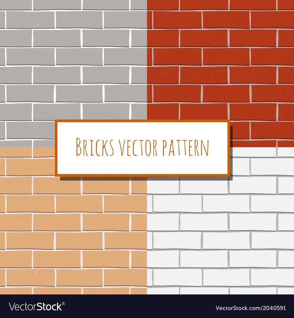 Seamless brick wall rectangular pattern vector   Price: 1 Credit (USD $1)