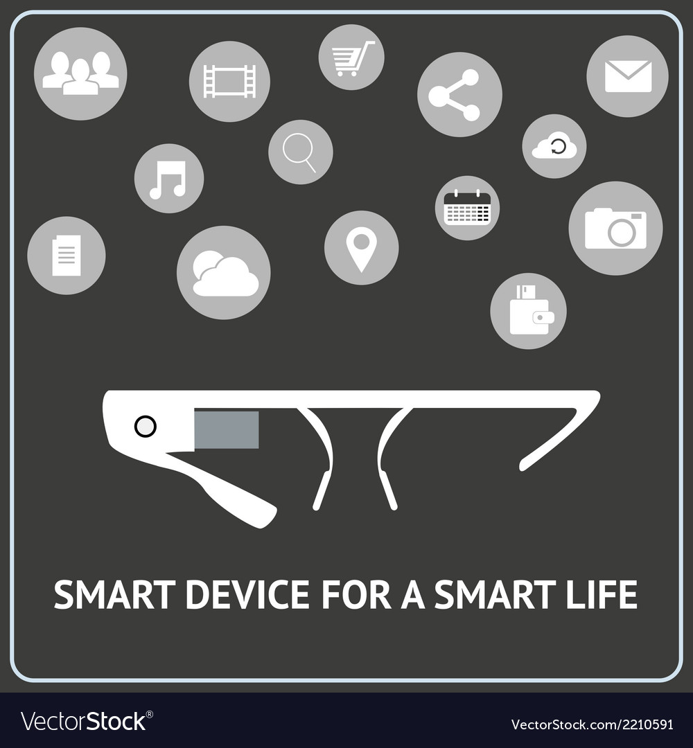 Smart glasses vector | Price: 1 Credit (USD $1)