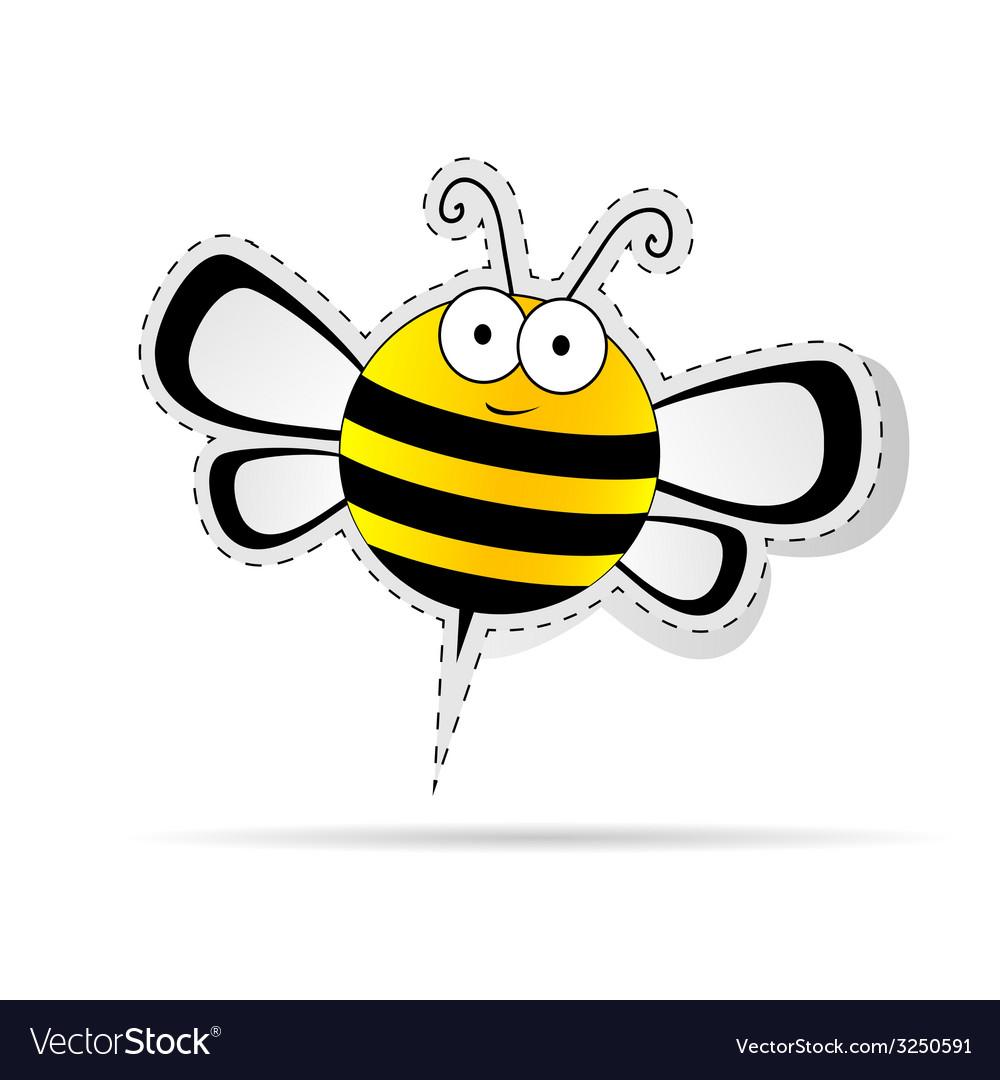 Sweet bee cartoon vector | Price: 1 Credit (USD $1)