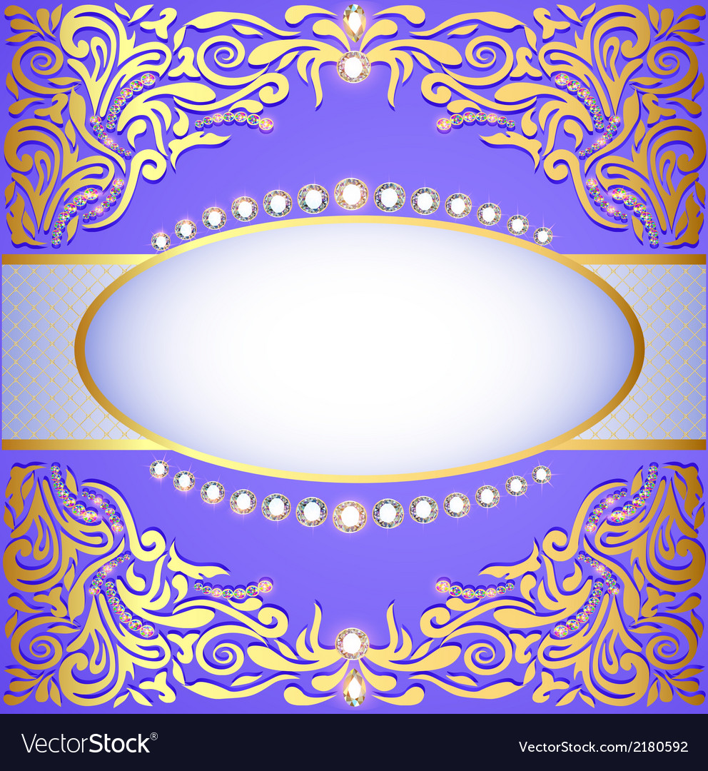 Background with gold ornaments vector | Price: 1 Credit (USD $1)