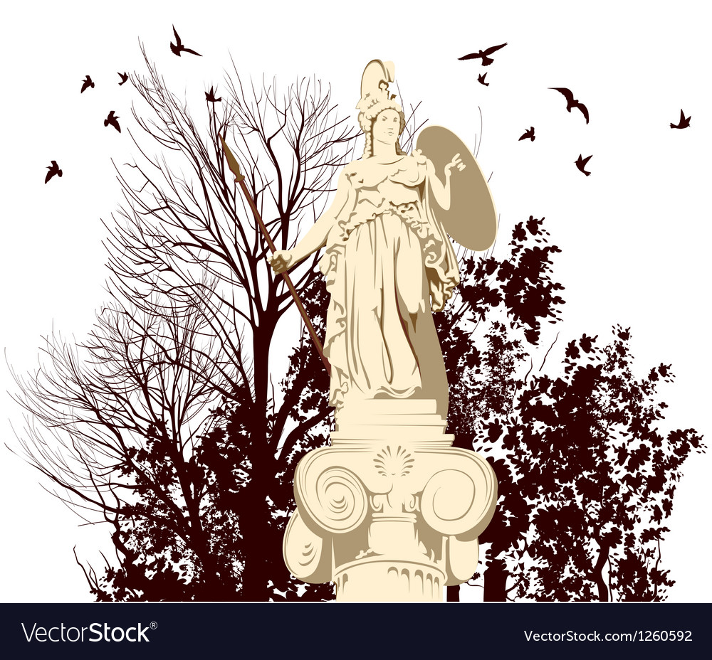 Beauty athena statue vector | Price: 1 Credit (USD $1)