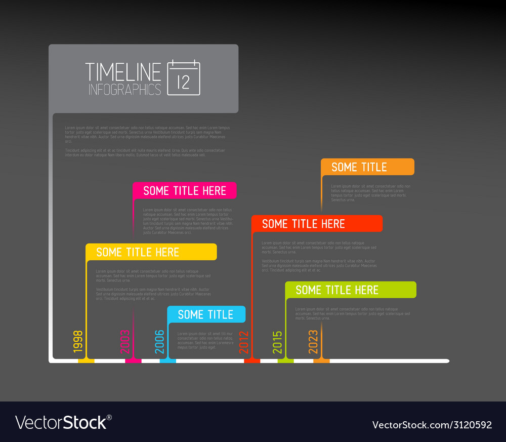 Colorful infographic timeline report template with vector | Price: 1 Credit (USD $1)