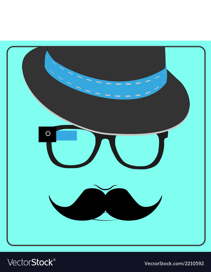 Hipster wearing smart glasses vector | Price: 1 Credit (USD $1)