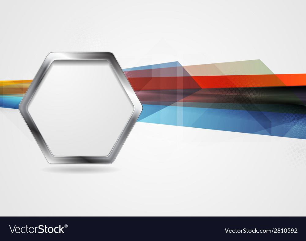 Hi-tech background with metal hexagon shape vector | Price: 1 Credit (USD $1)