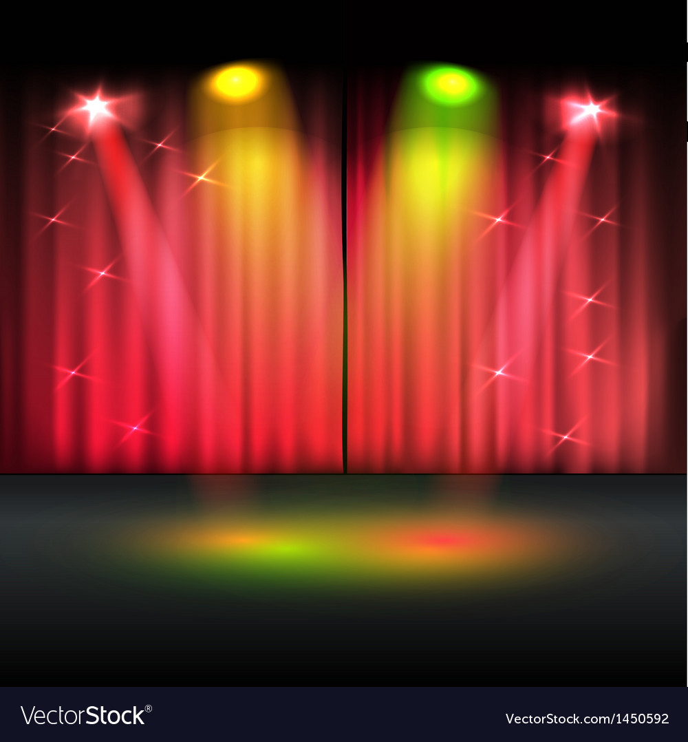 Illuminated stage template vector   Price: 1 Credit (USD $1)