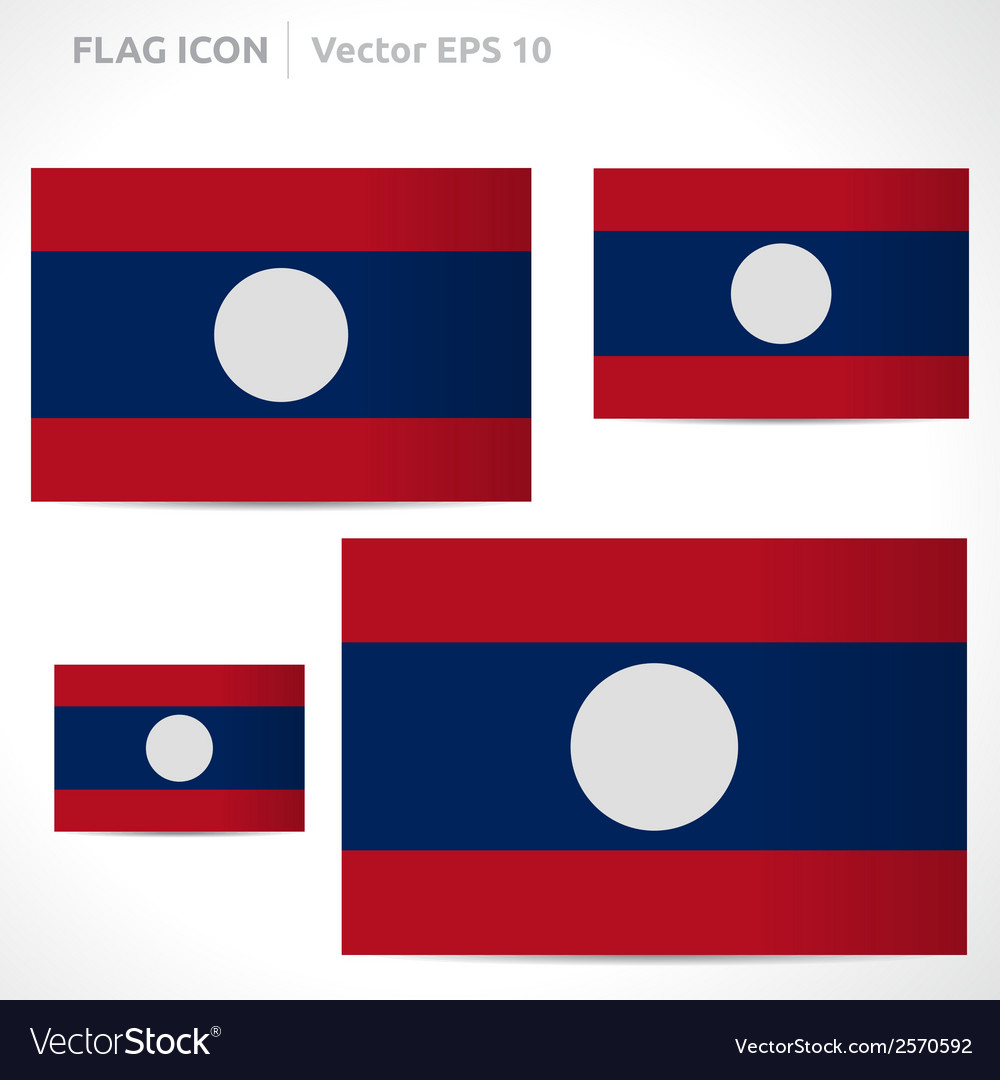 Laos flag template vector | Price: 1 Credit (USD $1)