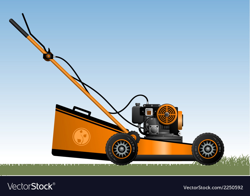Lawn mower vector | Price: 1 Credit (USD $1)