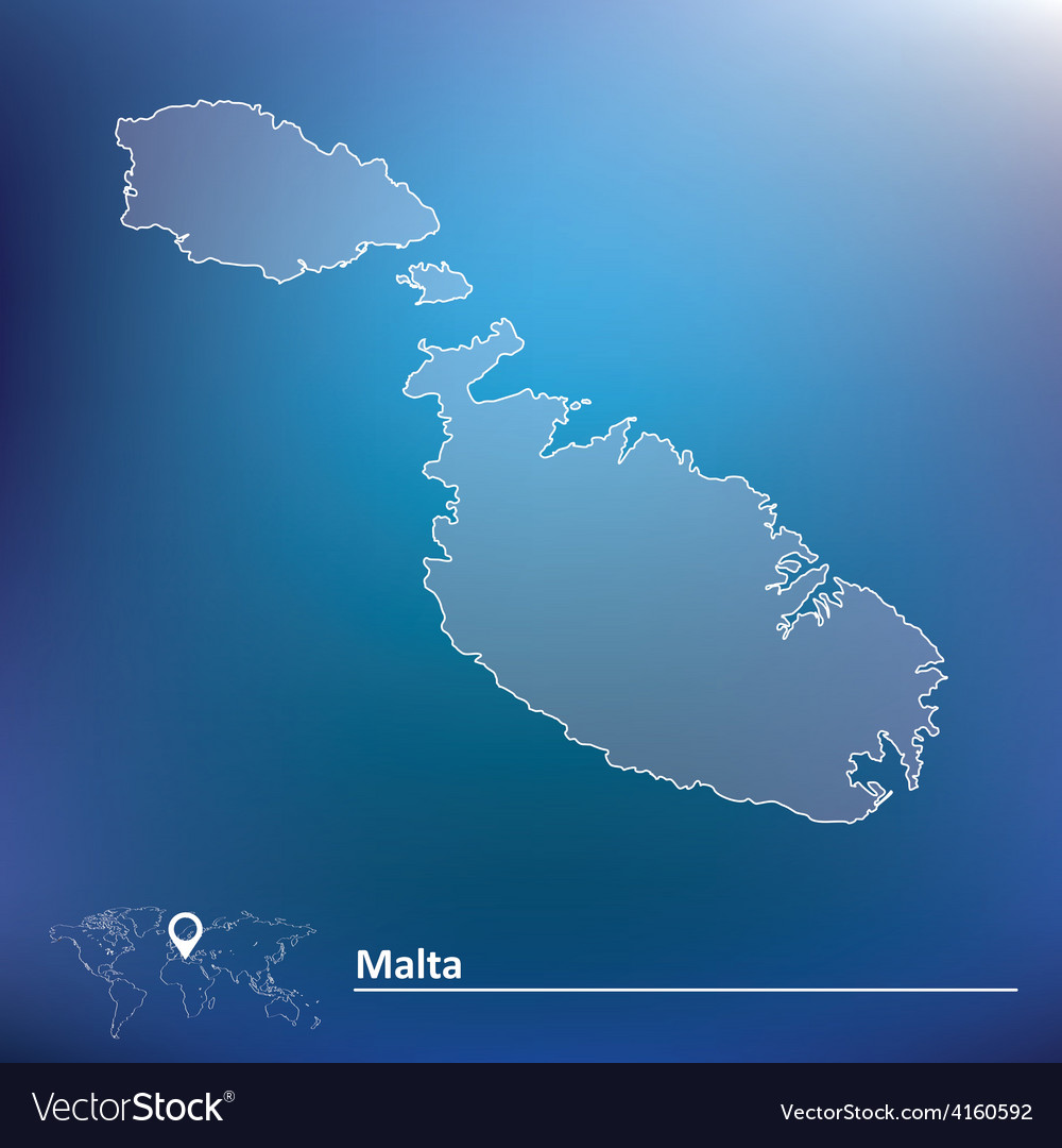 Map of malta vector | Price: 1 Credit (USD $1)