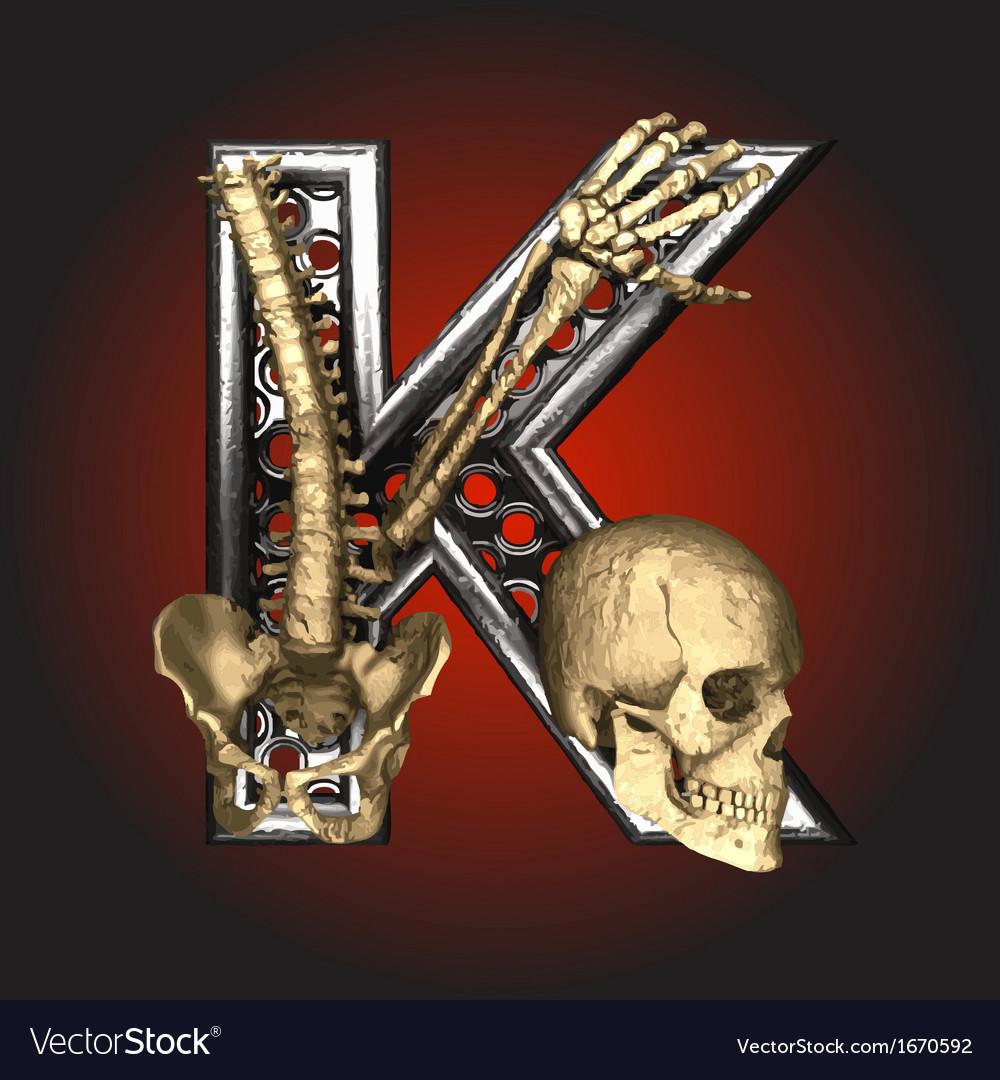 Metal figure with skeleton vector | Price: 1 Credit (USD $1)
