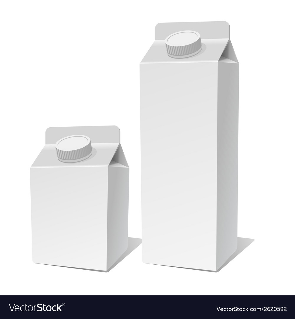 Paper milk product tetra pack container set vector | Price: 1 Credit (USD $1)