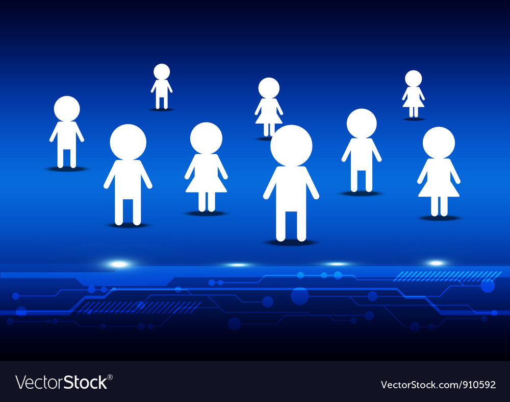 Person on social media vector | Price: 1 Credit (USD $1)