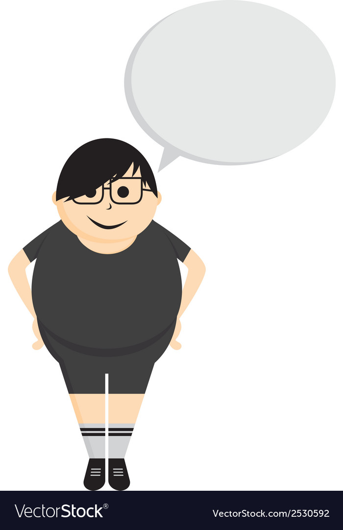 Person with speech bubble vector | Price: 1 Credit (USD $1)