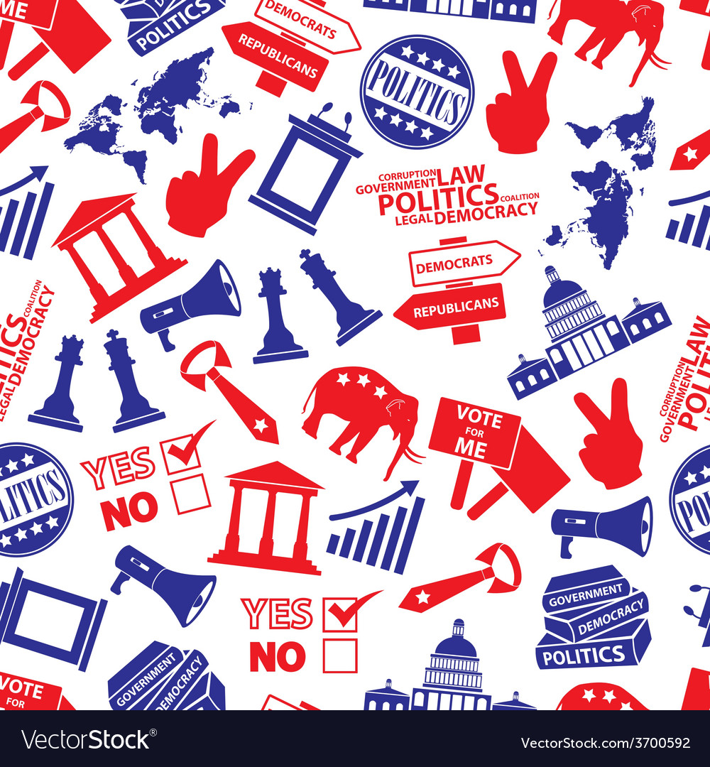 Politics red and blue seamless pattern eps10 vector | Price: 1 Credit (USD $1)