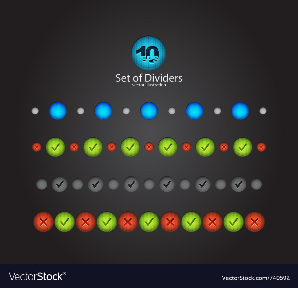 Web divider set vector | Price: 1 Credit (USD $1)