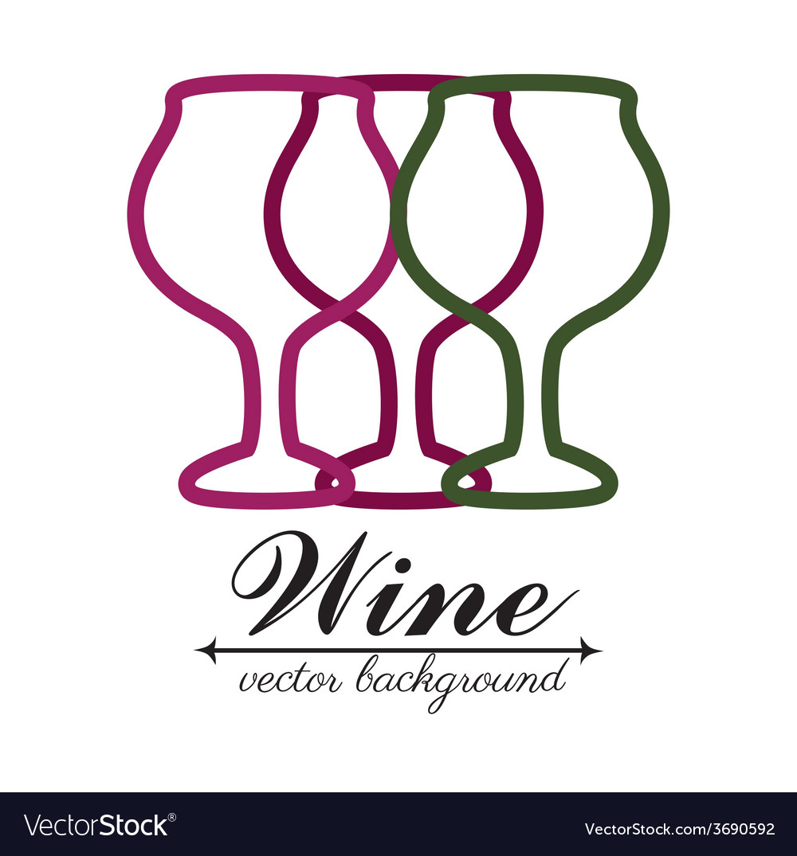 Wine design over white background vector | Price: 1 Credit (USD $1)