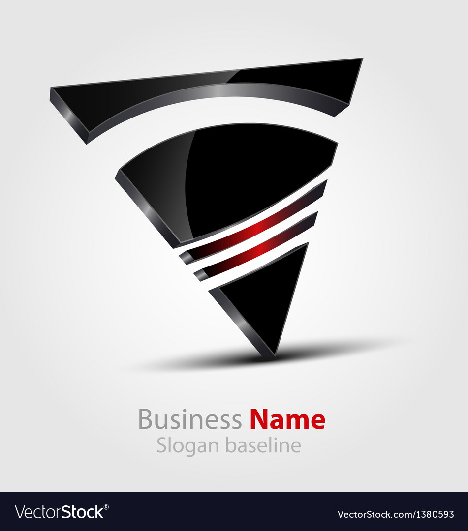 Abstract glossy 3d logo vector | Price: 1 Credit (USD $1)