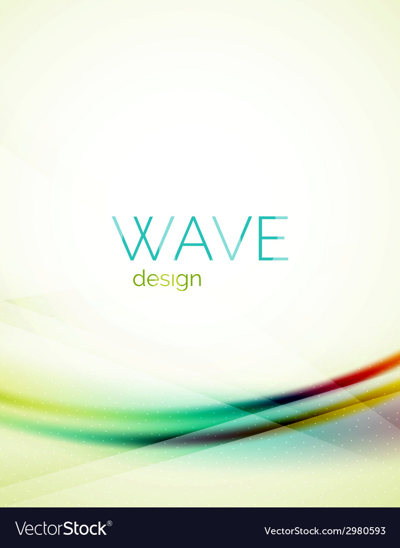 Blue and green flowing color design wave vector | Price: 1 Credit (USD $1)