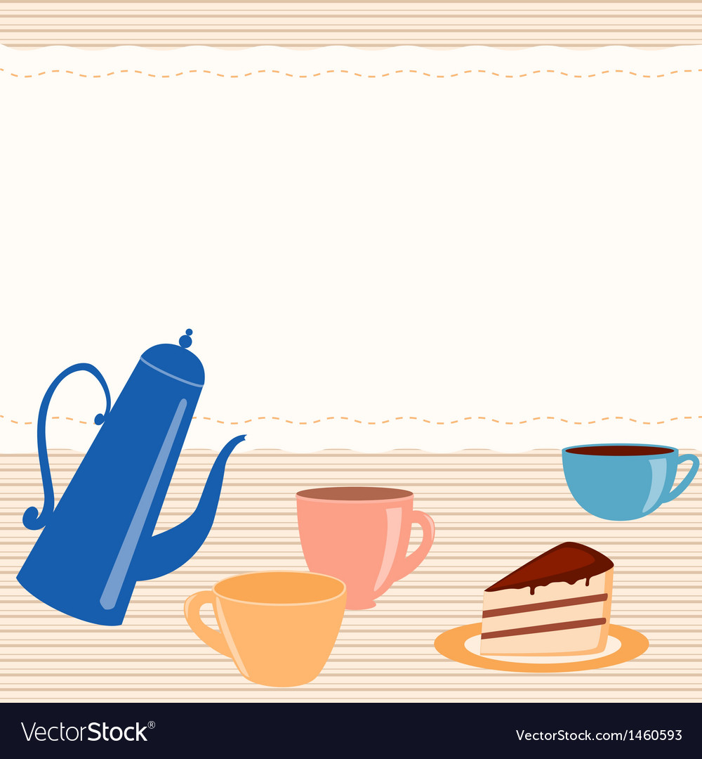 Card with tea related elements vector | Price: 1 Credit (USD $1)