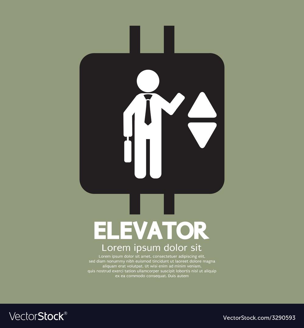 Elevator graphic symbol vector | Price: 1 Credit (USD $1)
