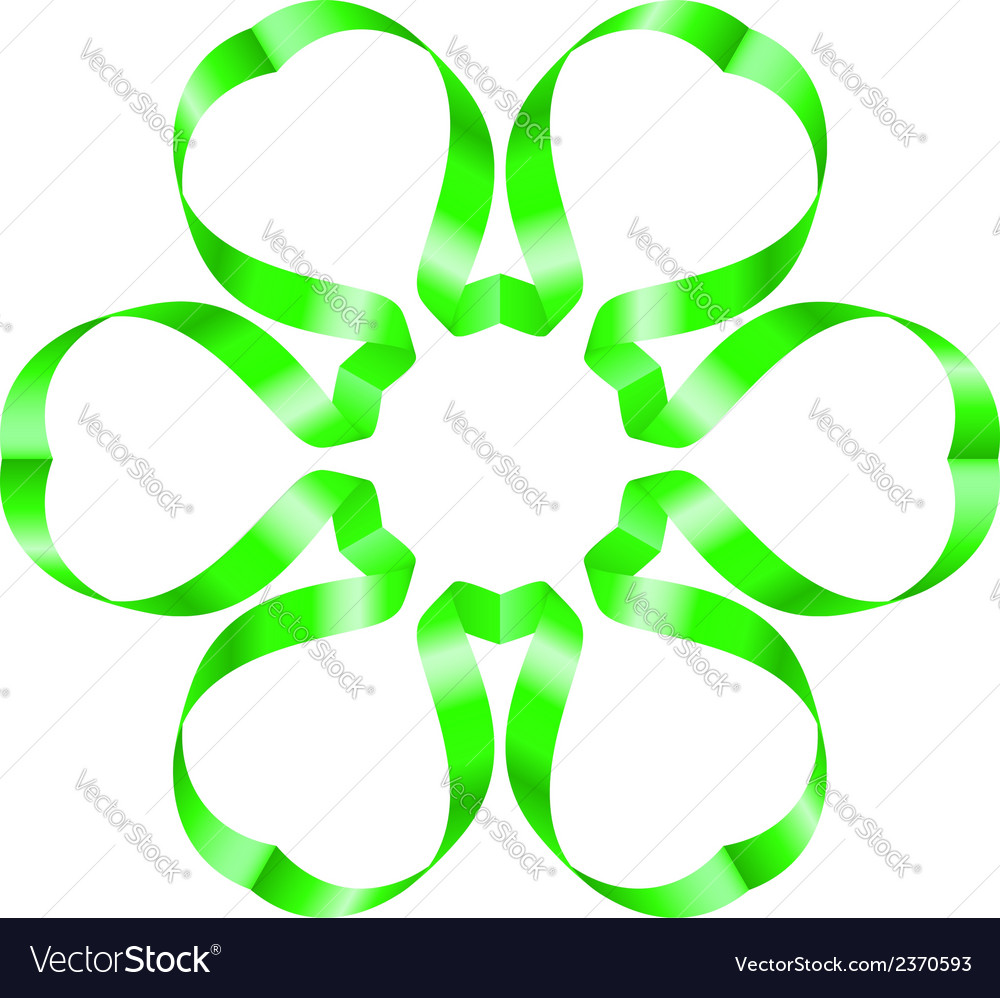 Flowers ribbon vector | Price: 1 Credit (USD $1)