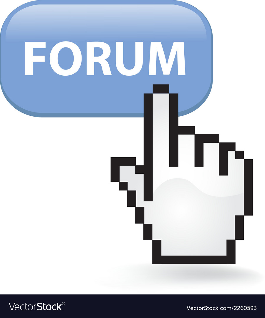 Forum button vector | Price: 1 Credit (USD $1)