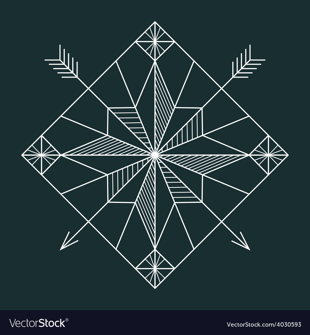 Line navigation star vector | Price: 1 Credit (USD $1)