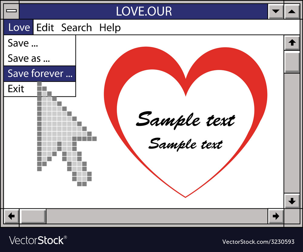 Our love save forever vector   Price: 1 Credit (USD $1)